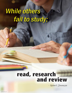 Read Research And Review - Robert Stevenson Motivational Poster Posters New