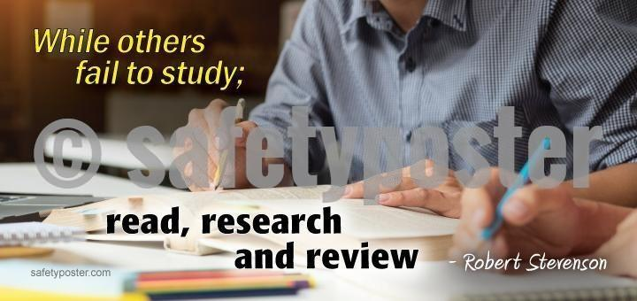 Read Research And Review - Robert Stevenson Success Sign Signs
