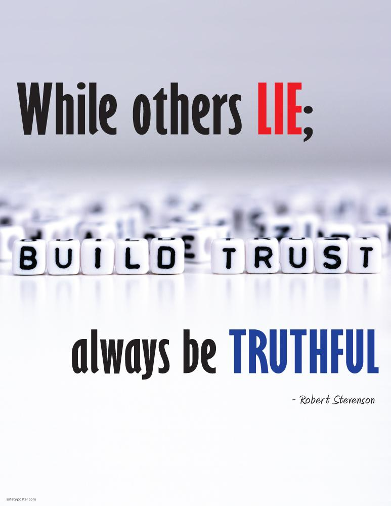 Always Be Truthful - Robert Stevenson Motivational Poster Posters New