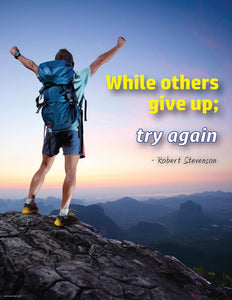 Try Again - Robert Stevenson Motivational Poster Posters New