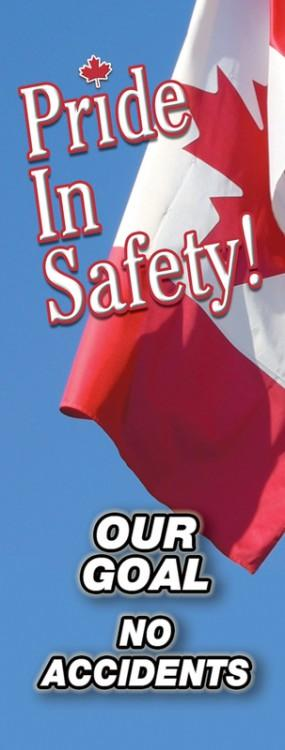 Pride In Safety! Our Goal No Accidents (Canada) - Vertical Safety Banner Motivational Banners