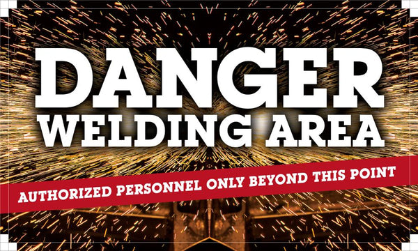Danger Welding Area - Authorized Personnel Only Safety Banner 48 X 28 Motivational Banners