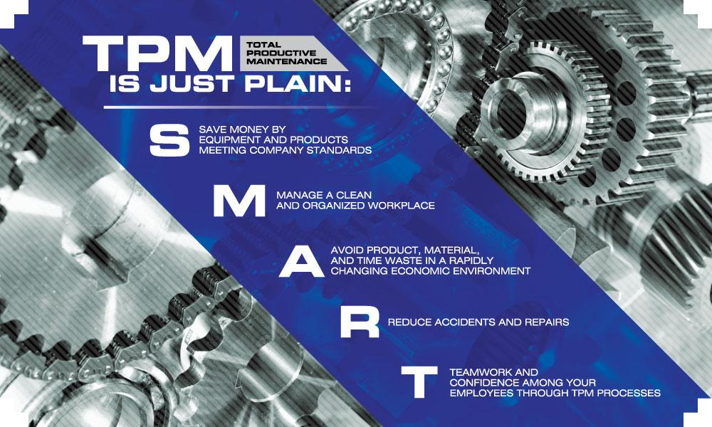 Tpm Is Just Plain Smart (Gears) - Safety Banner 48 X 28 Motivational Banners
