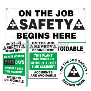 On The Job Safety Begins Here - Reinforcement Bundle (Style A)