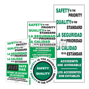 Safety Is The Priority Quality Standard (Green) - Reinforcement Bundle (Style A)