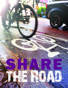 Share The Road - Safety Poster New Posters Transportation