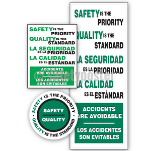Safety Is The Priority Quality Standard (Green) - Reinforcement Bundle (Style C)