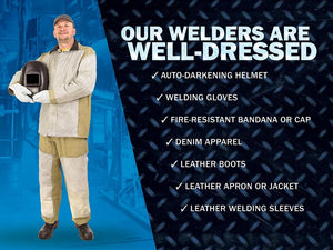 Our Welders Are Well-Dressed - Safety Poster New Posters Welding