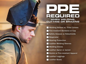 Ppe Required When Welding Cutting Or Brazing - Safety Poster New Posters