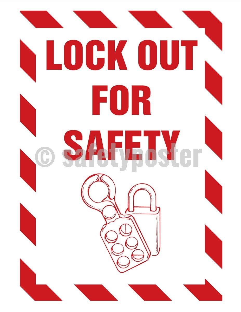 Lock Out For Safety - Poster Machine New Posters
