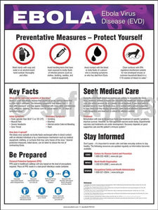 Ebola Prevention Measures - Safety Poster Health & Wellness New Posters
