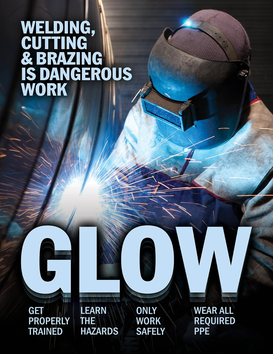 Welding Cutting & Brazing Is Dangerous Work - Safety Poster New Posters