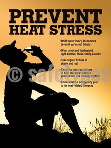 Prevent Heat Stress - Safety Poster Seasonal New Posters