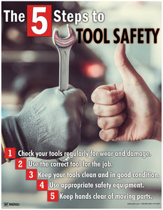 The 5 Steps To Tool Safety - Poster New Posters