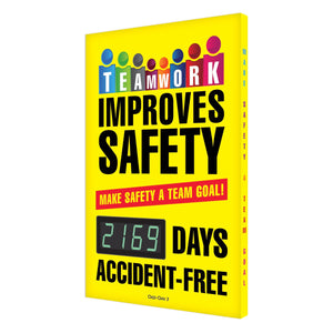 Teamwork Improves Safety _ Days Accident Free (Updated) Digi-Day 3