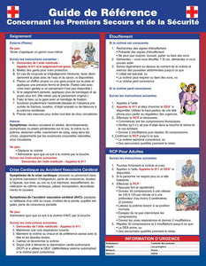 French First Aid Poster Posters