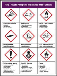 GHS Hazard Pictograms and Related Hazard Classes - GHS Pictogram Poster