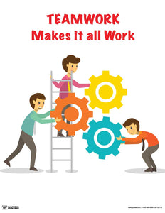 Teamwork Makes It All Work - Motivational Poster