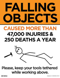 Falling Objects Cause Injury and Death - Safety Poster