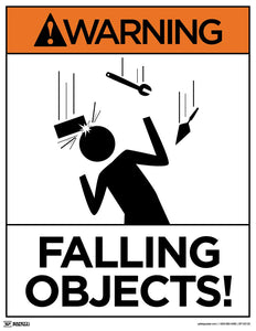 Warning Falling Objects - Safety Poster