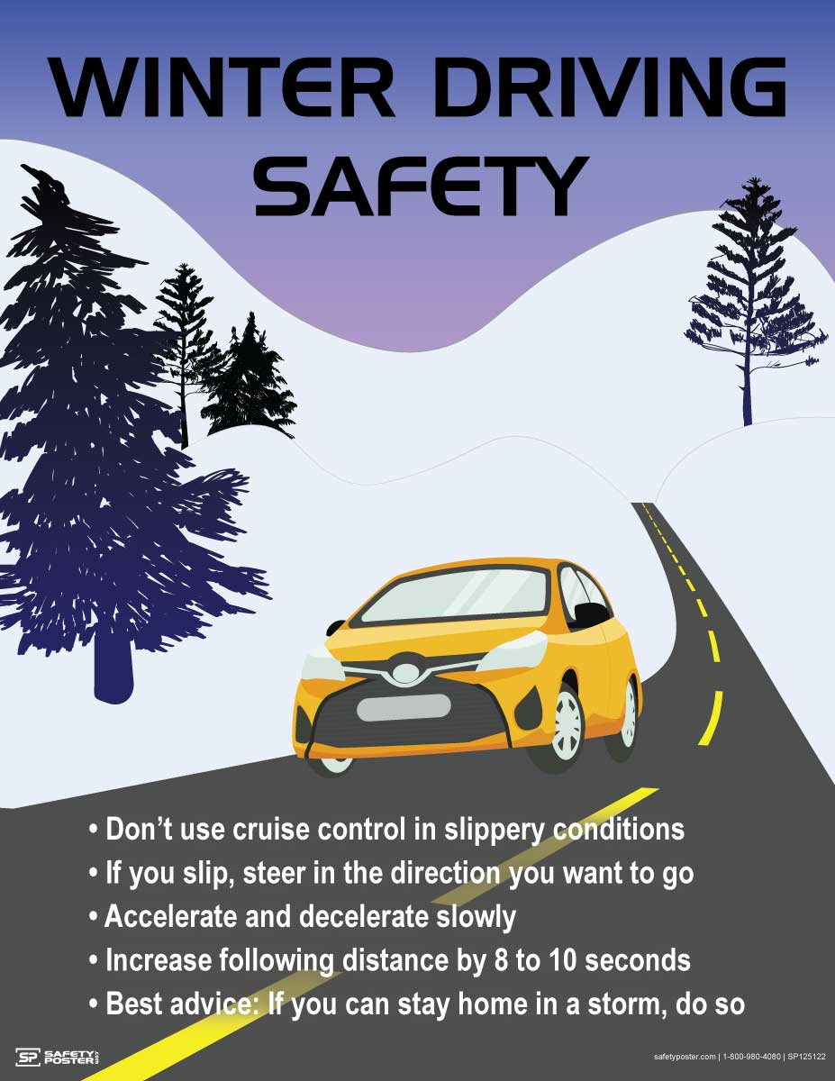 Winter Driving Safety - Safety Poster
