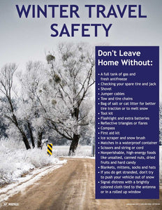 Winter Travel Safety - Safety Poster