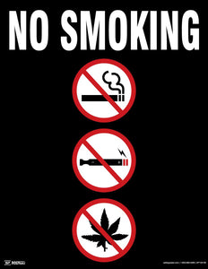 No Smoking (Black) - Safety Poster