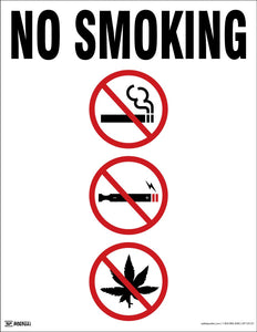 No Smoking (White) - Safety Poster