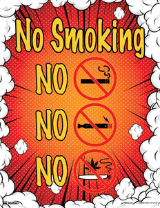 No Smoking (Orange) - Safety Poster