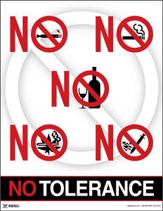 No Tolerance - Safety Poster