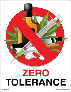 Zero Tolerance (White) - Safety Poster