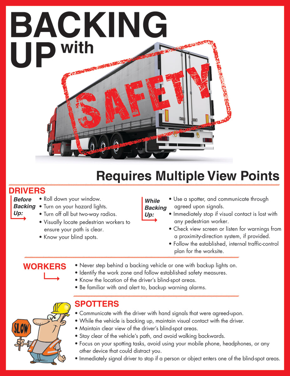 Backing Up with Safety - Safety Poster