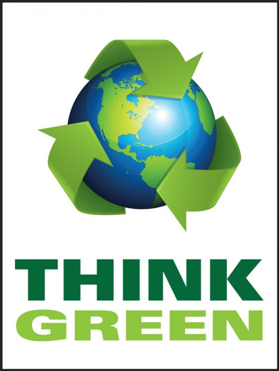 Think Green (Earth) - Safety Poster