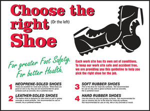 Choose the Right Shoe - Safety Poster