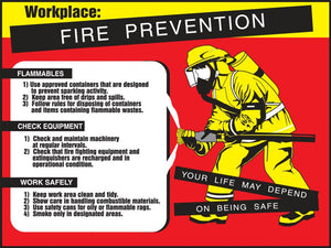 Workplace Fire Prevention - Safety Poster