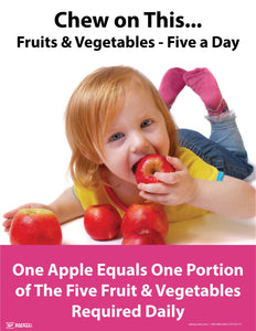 Chew on This, Fruits & Vegetables - Safety Poster
