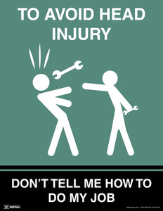 To Avoid Head Injury - Safety Poster