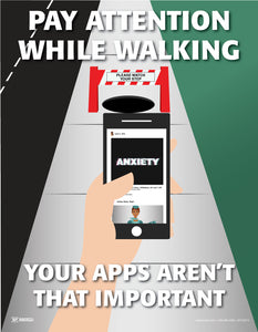 Pay Attention, Your Apps Can Wait - Safety Poster