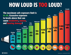 How Loud Is Too Loud - Safety Poster