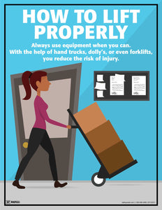 How To Lift Properly Use Equipment - Safety Poster