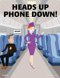 Heads Up Phones Down - Safety Poster