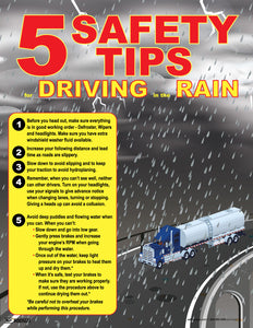 5 Safety Tips For Driving In The Rain - Safety Poster