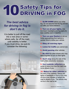 Driving In Fog 10 Safety Tips - Safety Poster