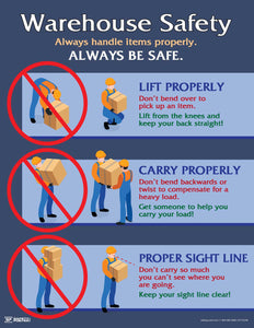 Warehouse Safety Lift Properly - Safety Poster