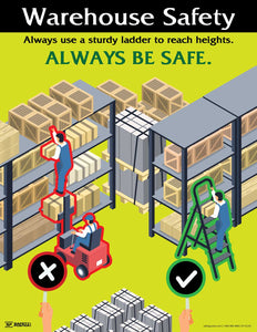 Warehouse Safety (Yellow) - Safety Poster