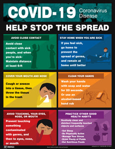 Coronavirus Help Stop The Spread - Safety Poster