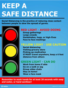 Keep a Safe Distance (Traffic Sign) - Safety Poster