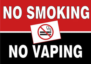 No Smoking No Vaping - Floor Sign