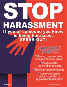 STOP Harassment SPEAK OUT - Safety Poster