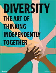 Diversity Thinking Independently Together - Safety Poster